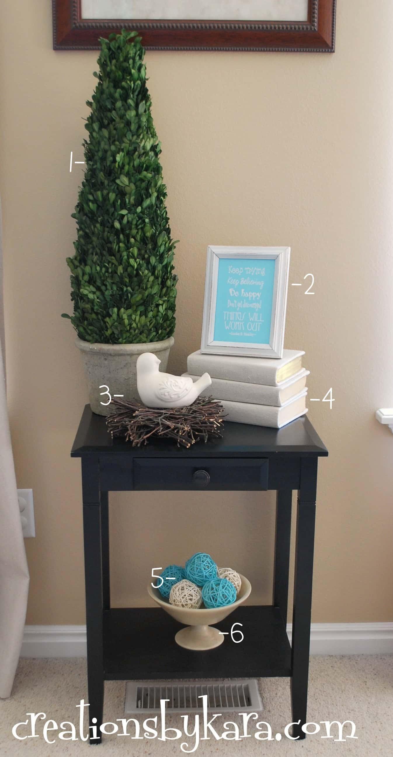 DIY Decorating- Living Room Table - Creations by Kara