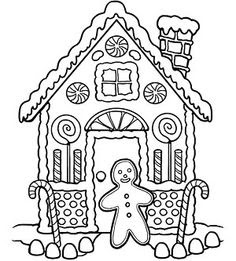 Gingerbread House Coloring Pages at GetColorings.com ...
