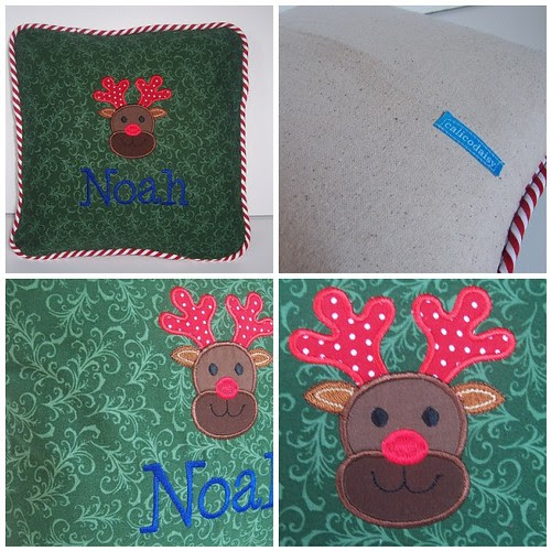 Reindeer Pillow mosaic