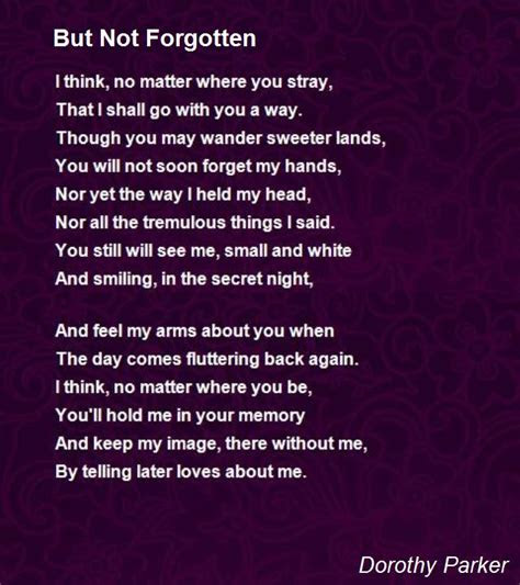 Gone But Not Forgotten Quotes Poems