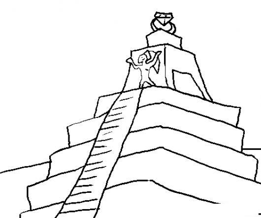 Dibujo De Piramide Maya Para Pintar Y Colorear Colorear Dibujos