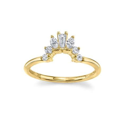 Gemma Ballerina Ring   Art Deco Inspired Wedding Ring