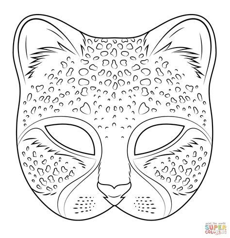 cheetah mask super coloring crafts pinterest