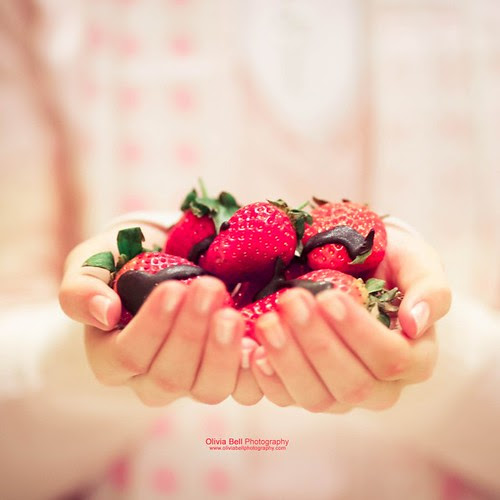 Chocolate covered strawberries by Olivia Bell Photography