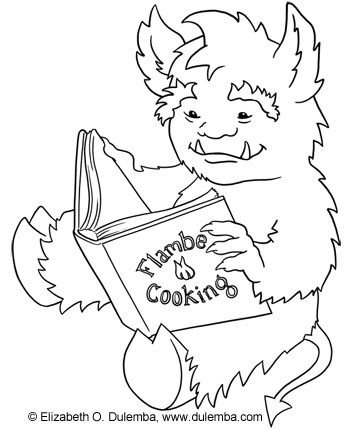 dulemba: Coloring Page Tuesday Reading Monster
