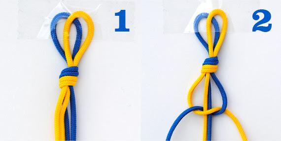 Macrame: square knot
