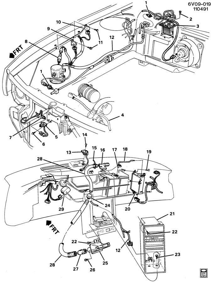 1989 Cadillac Allante A/C CONTROL SYSTEM ELECTRICAL