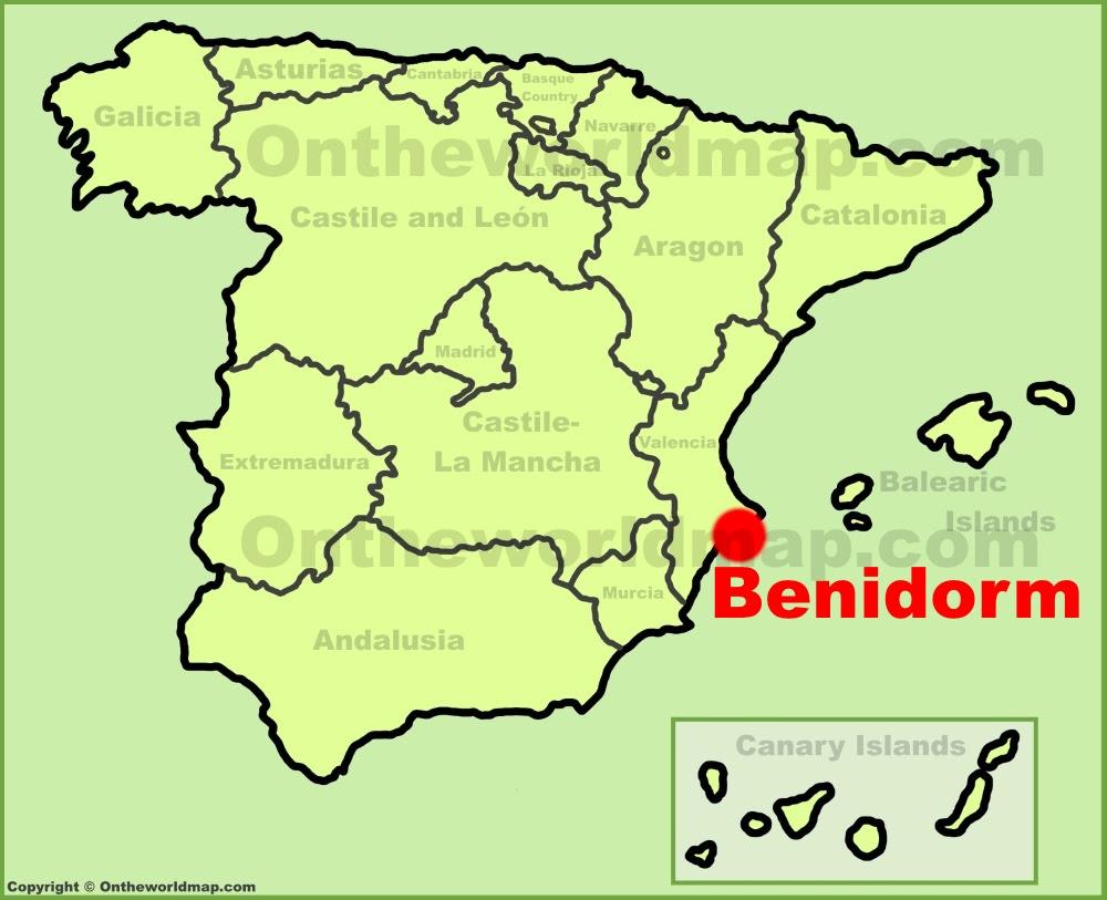 Resultado de imagen de benidorm mapa