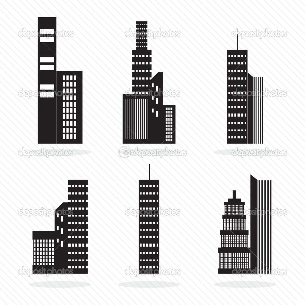Buildings silhouette — Stock Vector © yupiramos #18867645