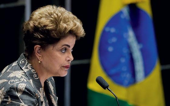 Presidente afastada Dilma Rousseff durante defesa no Plenário do Senado (Foto:  Edilson Rodrigues/Agência Senado)