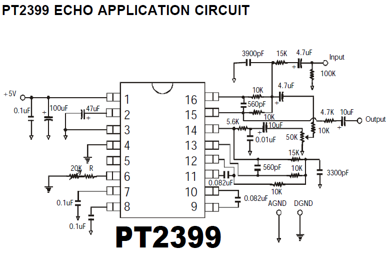 digital echo repeat circuit schematic
