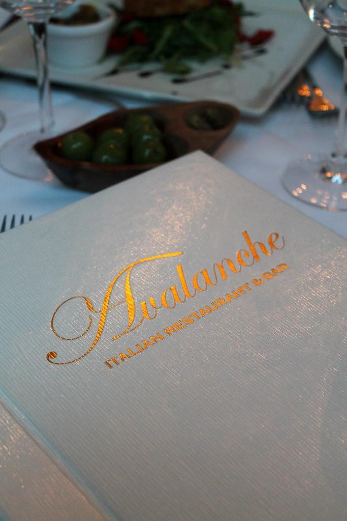 Avalanche menu