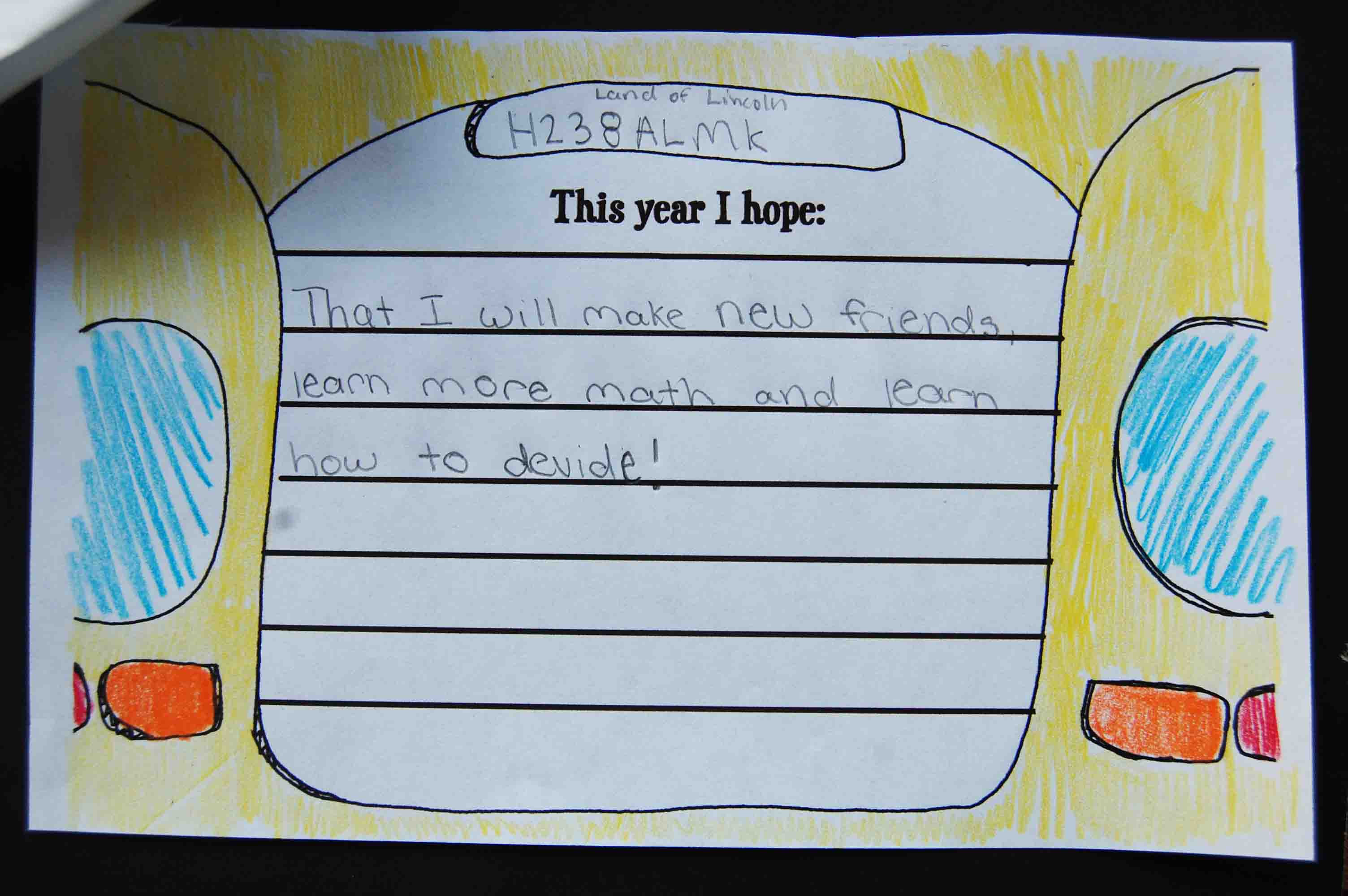 First Day of School Writing Activity: Back to School Bus Mini-Book