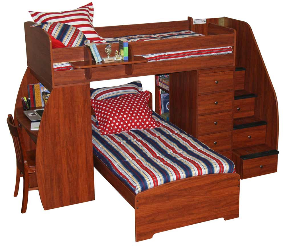 bunk bed plans with stairs and slide » woodworktips