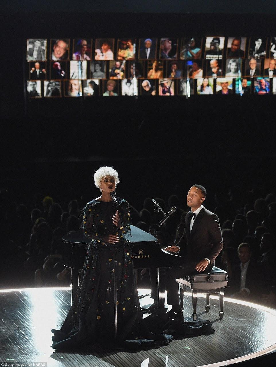 Tocando: Cynthia Erivo e John Legend fizeram o segmento In Memoriam