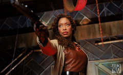Gina Torres as 'Zoë Washburne' on FIREFLY by TheWB.com © All rights reserved. [click to enlarge]
