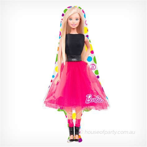 Large Foil Balloon Barbie Sparkle   House of Party