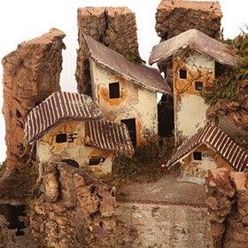 Pesebre con pueblo de 58x26x35cm