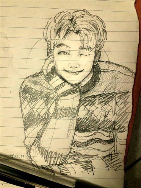 namjoon fanart bts fanart   bts drawings
