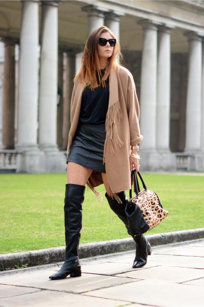 bronze H&M coat