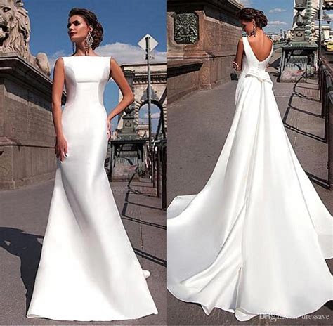 Discount 2017 Charming Elegant Satin Wedding Dresses Cheap