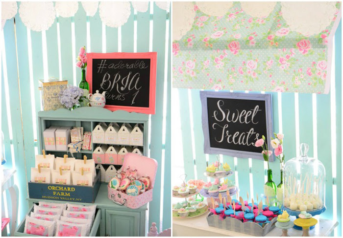 Brias Cath Kidston And Shabby Chic Themed 1st Birthday Party One