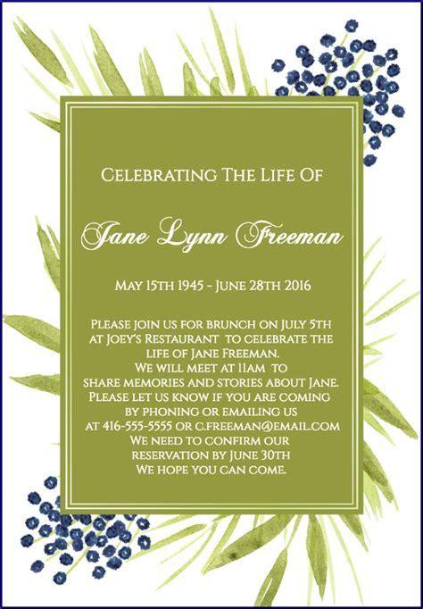 39 Best Funeral Reception Invitations   FUNERAL & MEMORIAL