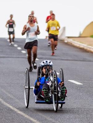 Danielle Nobile completa os 21km da Meia Maratona de Ribeirão Preto (Foto: Divulgação/Alfredo Risk)