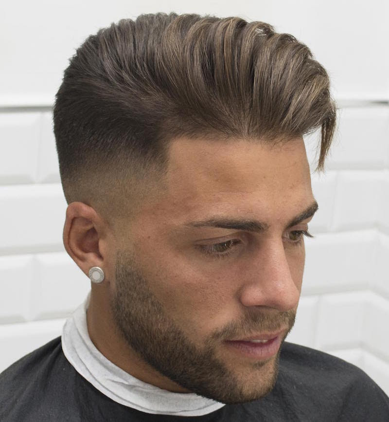 javi_thebarber_high fade longer hair blown dry