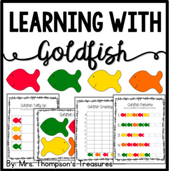 Goldfish Cracker Fun Activity Pack {Graphing, Sorting, Pat
