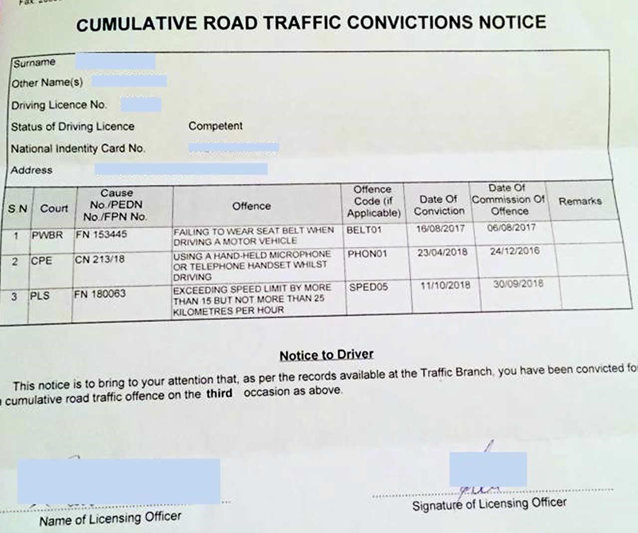 cumulative notice