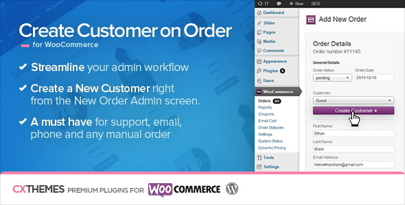 Create Customer on Order for WooCommerce v1.34 - free download gratis terbaru