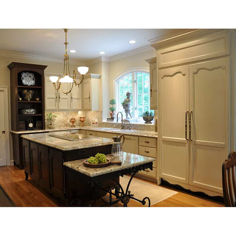 Country French Kitchen Island & Cabinets - J. Tribble