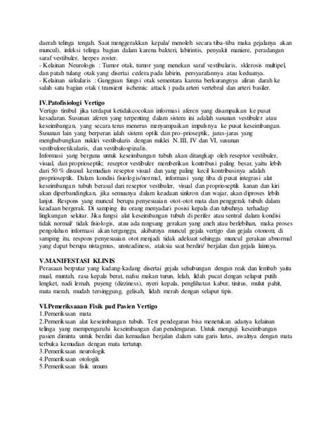 Askep dan laporan pendahuluan pasien dengan vertigo