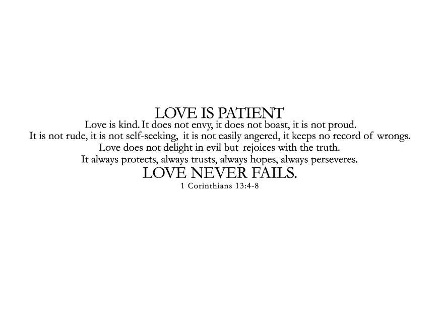 Love Is Patient Love Is Kind Art And Design