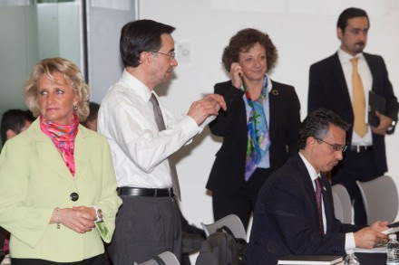 Comisionados exhiben crisis del IFAI ante senadores. Foto: Eduardo Miranda
