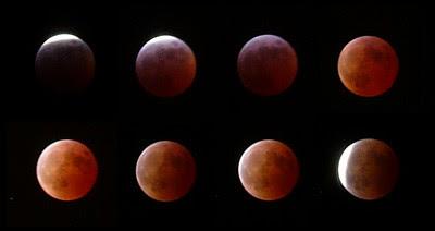 8 lunas durante el eclipse