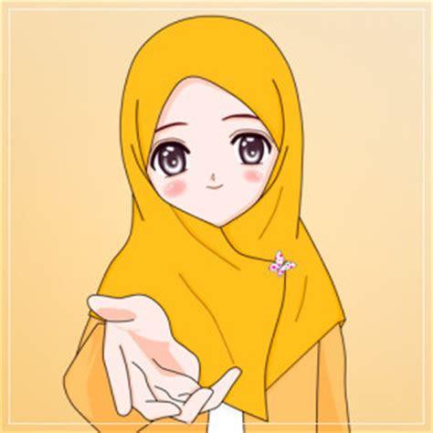 pilihan gambar kartun muslimah cantik