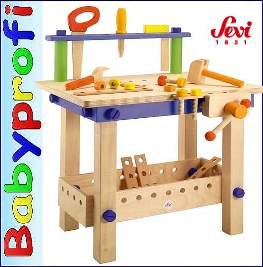 Sevi 82082 - Holz - Werkbank für Kinder mit viel Zubehör ...
