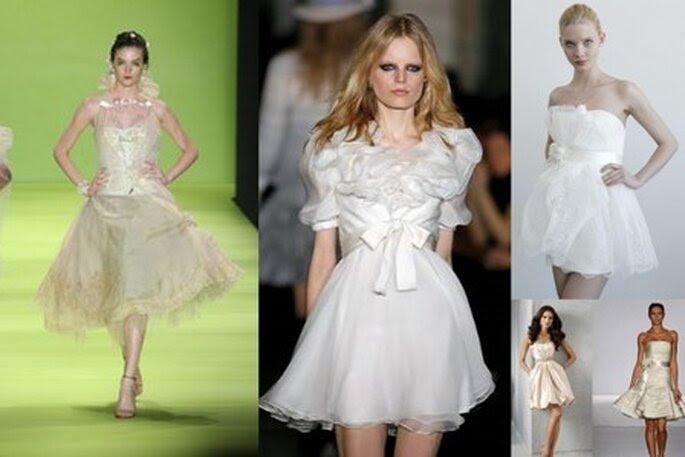 Vestidos de Noiva Curtos 2011