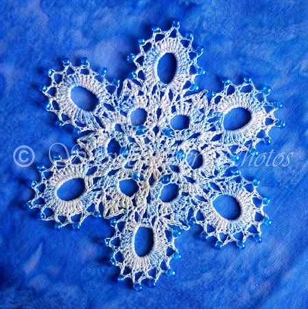 Beaded No Dice Snowflake