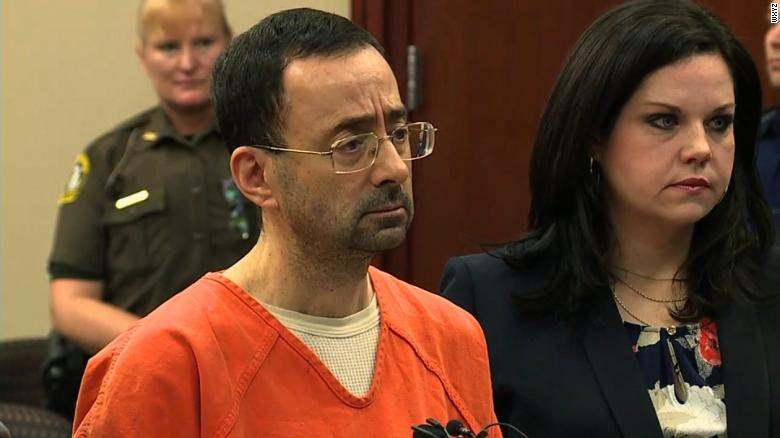 Larry Nassar pleads guilty in court Wednesday.
