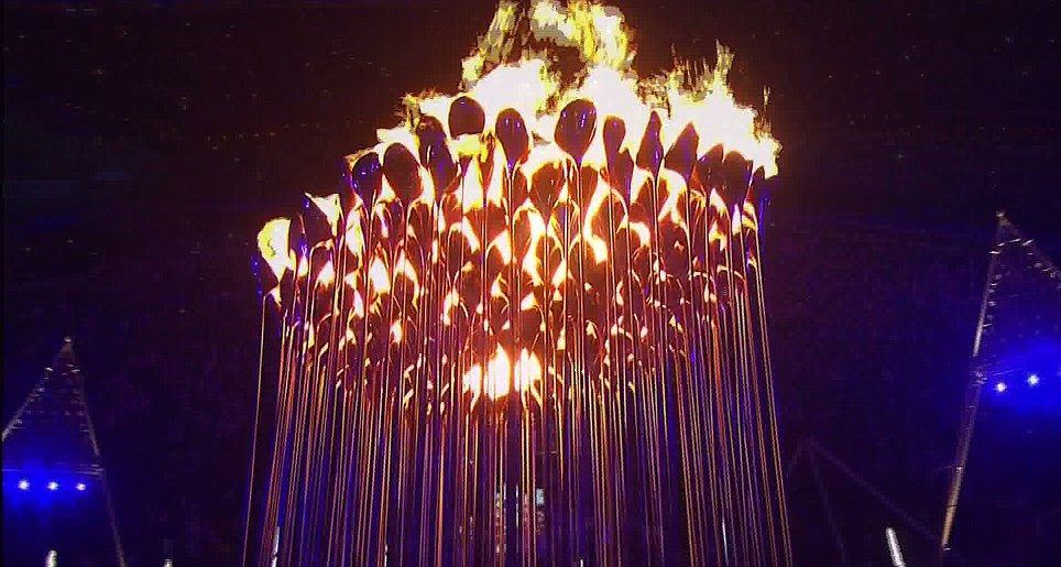 The Cauldron was formed by 204 petals, one for each nation competing