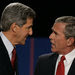 OCT. 13, 2004 Senator John Kerry and President George W. Bush after their final debate, in Tempe, Ariz. Mr. Kerry's strong debate performance was not enough to win.