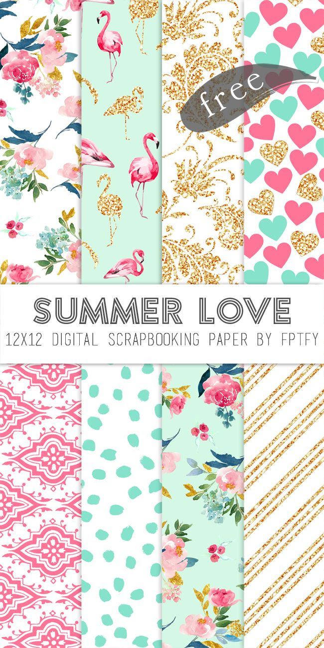 1000+ ideas about Printable Scrapbook Paper on Pinterest | Free ...