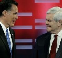 Mitt Romney et Newt Gingrich