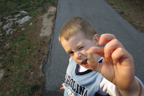 """""""take a picture of this rock, mom."""""""