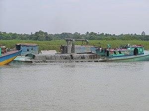 Dredging on Buriganga River Bangladesh