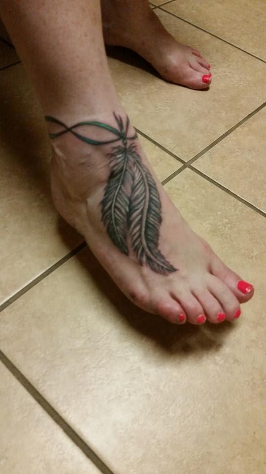Feather Ankle Bracelet Best Tattoo Design Ideas