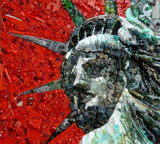 Contemporary art from recycled materials  by Jane Perkins